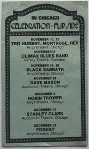 Black Sabbath Original Concert Handbill Flyer International Amphitheatre Chicago 24th Nov 1976