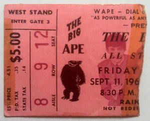 Beatles Original Used Concert Ticket Gator Bowl Jacksonville 11th Sept 1964