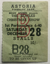 Load image into Gallery viewer, Beatles Original Used Concert Ticket Astoria London 28th Dec 1963