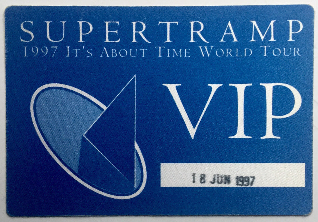 Supertramp Original Unused Concert VIP Pass Ticket Royal Albert Hall London 18th June 1997