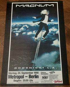 Magnum Original Promo Concert Tour Gig Poster Metropol Berlin 24th Sept 1990
