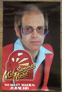 Elton John Beach Boys Eagles Original Concert Tour Gig Poster Wembley Stadium 1975