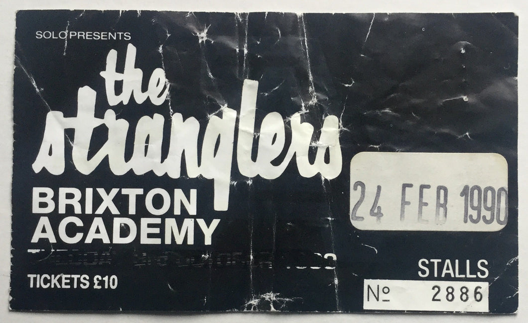 Stranglers Original Used Concert Ticket Brixton Academy, London 24th Feb 1990