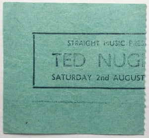 Ted Nugent Original Used Concert Ticket Hammersmith Odeon London 2nd Aug 1980