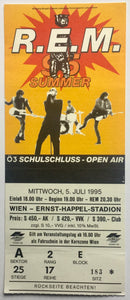 R.E.M. REM Original Used Concert Ticket Ernst Happel Stadion Vienna 5th July 1995