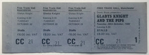 Gladys Knight & The Pips Original Unused Concert Ticket Free Trade Hall Manchester 28th Oct 1980