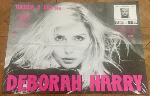 Deborah Harry Original Promo Concert Tour Gig Poster Ancienne Belgique Brussels 9th July 1991