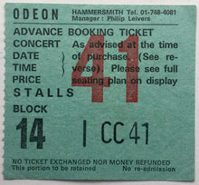 Load image into Gallery viewer, Ted Nugent Original Used Concert Ticket Hammersmith Odeon London 2nd Aug 1980