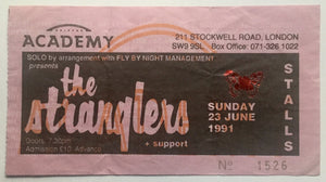 Stranglers Original Used Concert Ticket Brixton Academy London 23rd June 1991