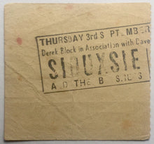 Load image into Gallery viewer, Siouxsie and the Banshees Original Used Concert Ticket Hammersmith Odeon London 3rd Sept 1981