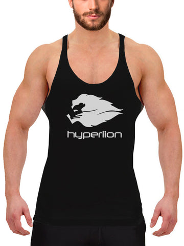 Hyperlion Bushido Origins Men's Black Gym Stringer Vest