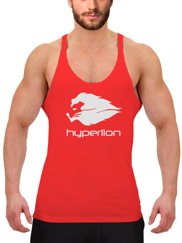 Hyperlion Bushido Origins Men's Red Gym Stringer Vest