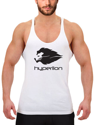 Hyperlion Bushido Origins Men's White Gym Stringer Vest