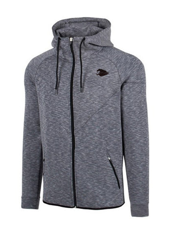 Hyperlion Fitted Bushido Origins Mens Light Charcoal Hoodie