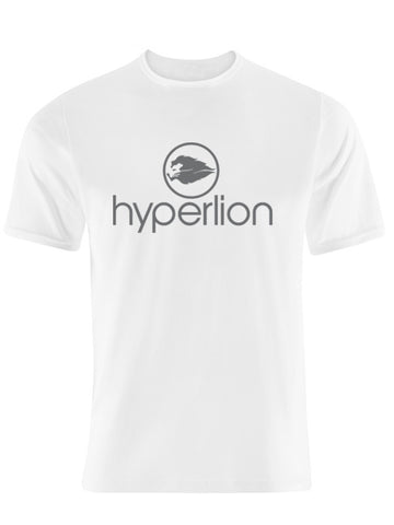 Hyperlion Crew Neck Mens White Gym T Shirt