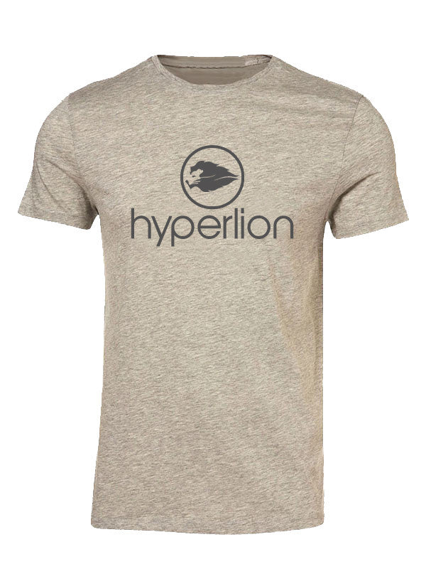 Hyperlion Crew Neck Mens Grey Gym T Shirt