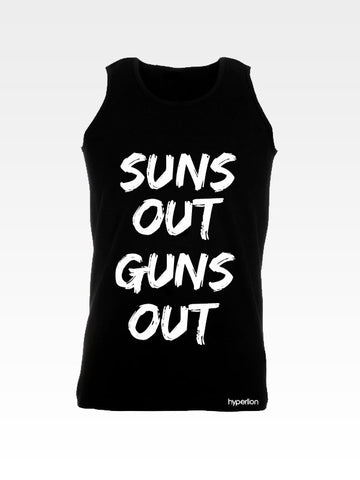 Hyperlion Suns Out Guns Out Gym Mens Vest