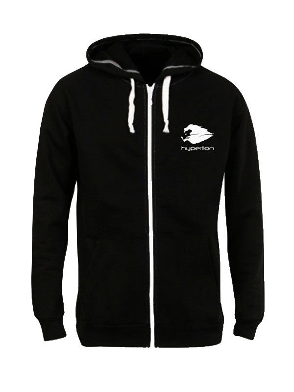 Hyperlion Origins Zip Black Mens Gym Hoodie