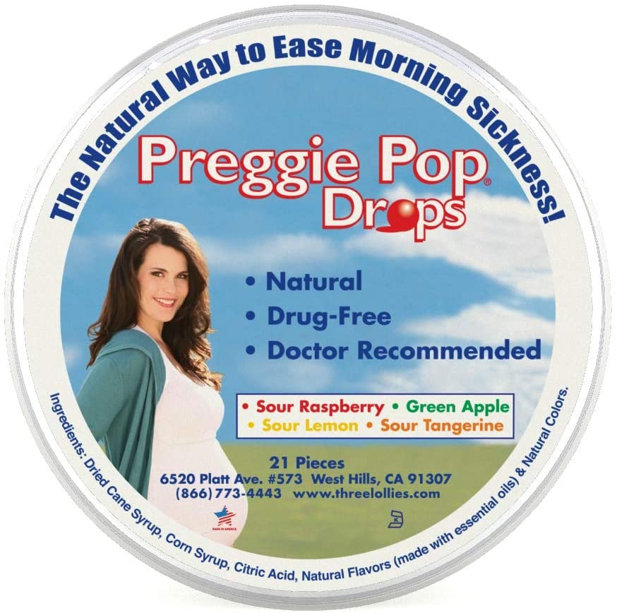 Three Lollies Preggie Pop Drops - 21 Count