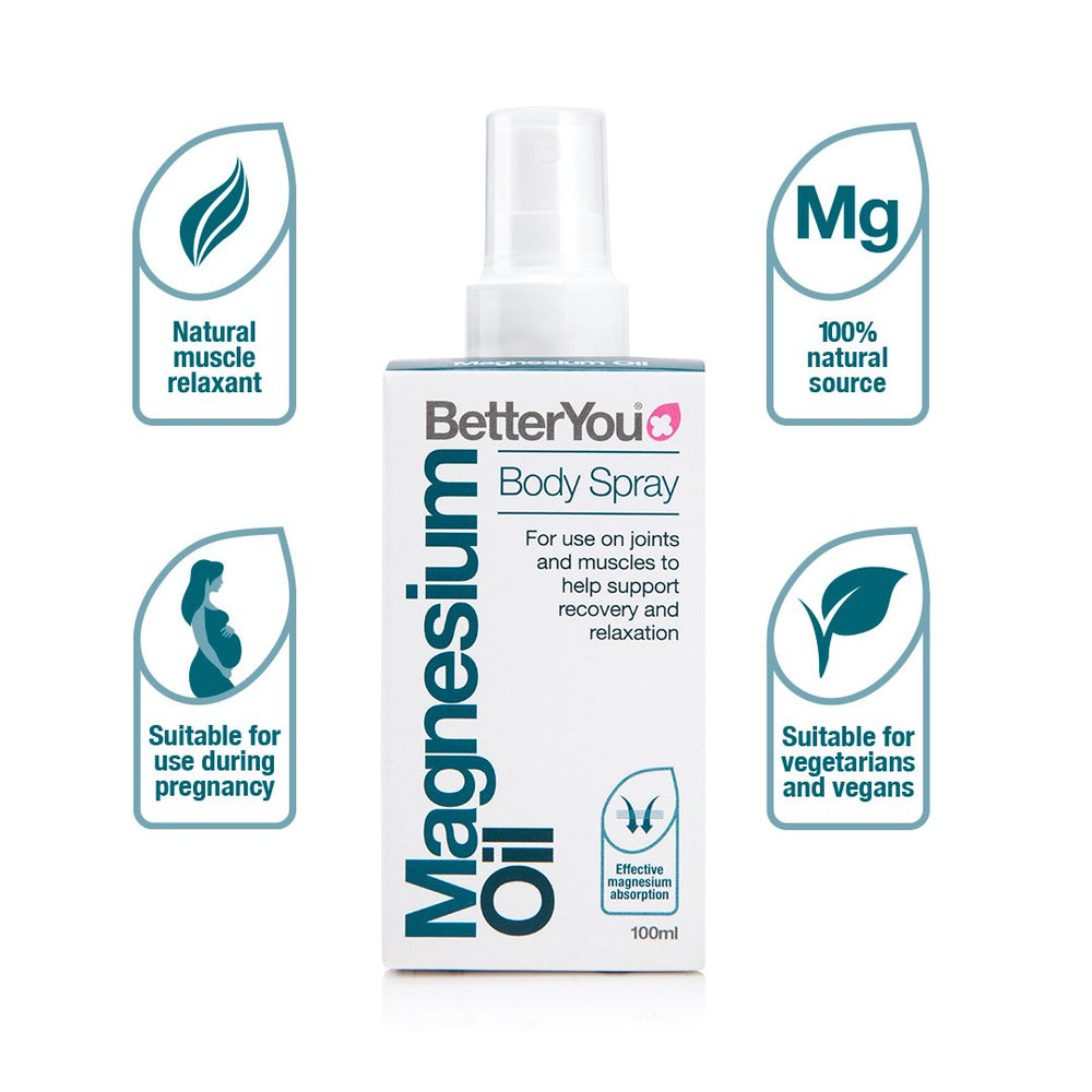BetterYou Magnesium Oil Body Spray, 100ml
