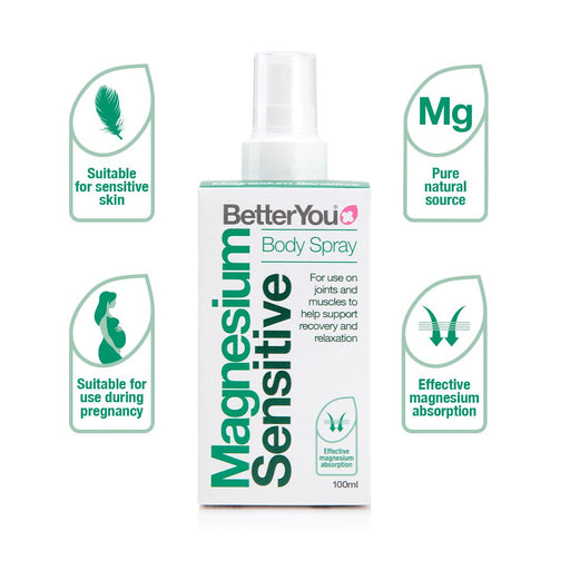 BetterYou Magnesium Sensitive Body Spray, 100ml
