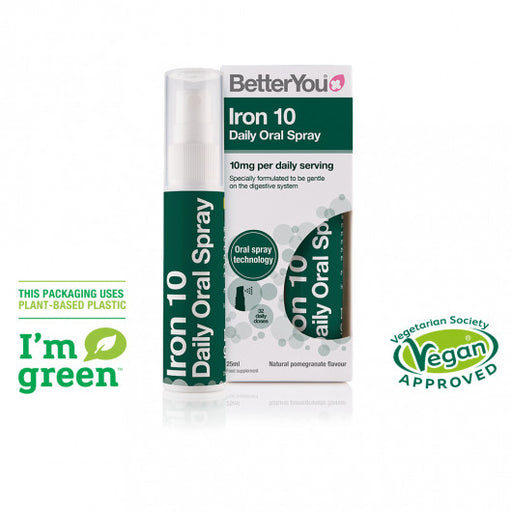 BetterYou Iron 10 Oral Spray, 25ml
