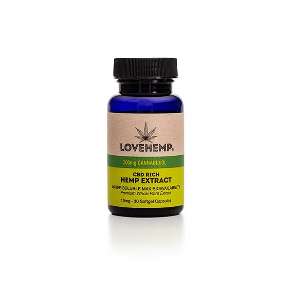 Love Hemp CBD Rich Hemp Extract - 30 Softgel Capsules - 300mg