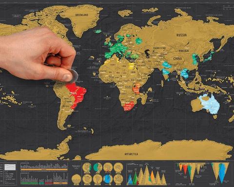 SCRATCH OFF TRAVELERS MAP