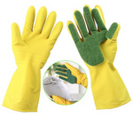 DISHWASHING GLOVES WITH SCRUBBER