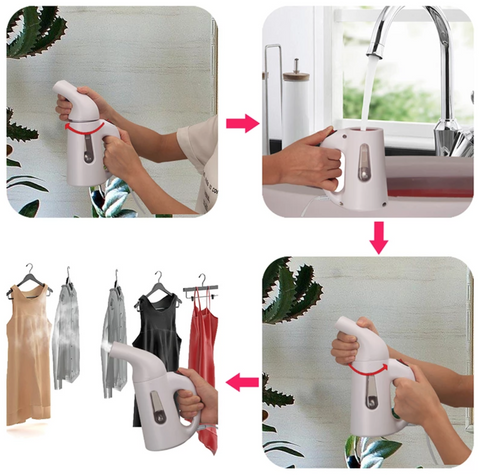 THE MAGIC PORTABLE IRON/STEAMER