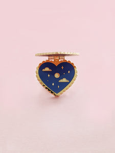 Heart Locket Hinged Enamel Pin