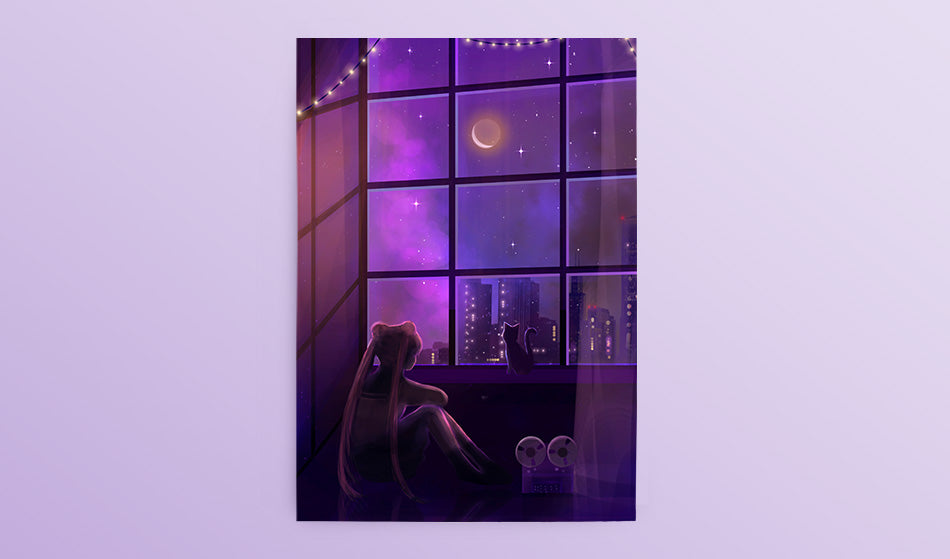Postcard: Alone with the Music - Sugarmints Artstore