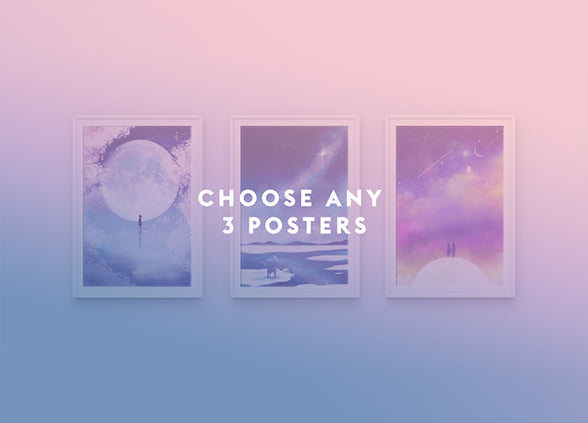 Choose Any 3 Posters Set - Sugarmints Artstore
