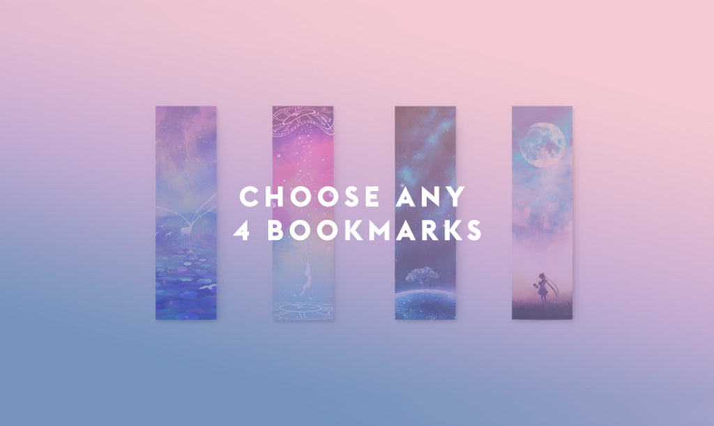 Choose Any 4 Bookmarks Set - Sugarmints Artstore