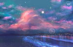 Load image into Gallery viewer, Postcard: Ocean of Stars - Sugarmints Artstore