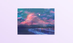 Postcard: Ocean of Stars - Sugarmints Artstore