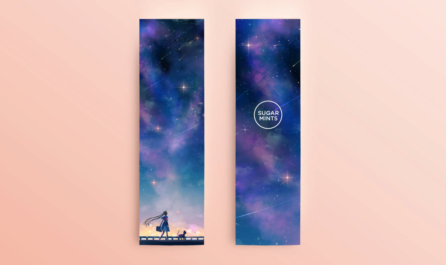 Bookmark: Sailor Moon & Luna - Sugarmints Artstore