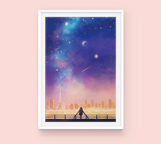 Poster: Cosmic Love - Sugarmints Artstore