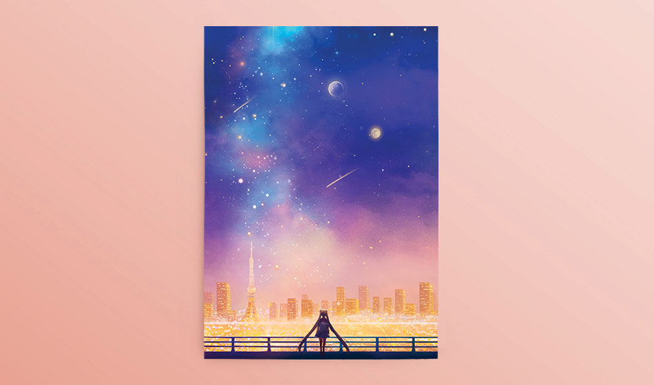 Postcard: Cosmic Love - Sugarmints Artstore