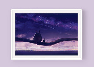 Totoro Poster: Starry Night - Sugarmints Artstore