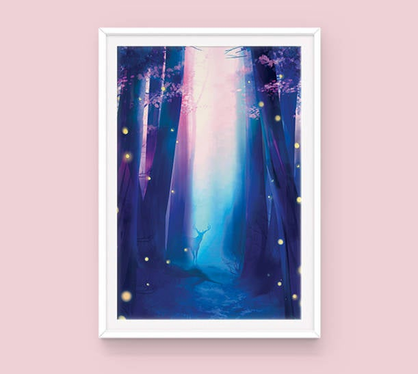 Poster: Secret Forest - Sugarmints Artstore