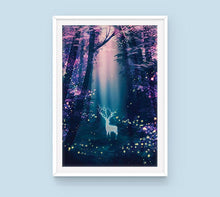 Load image into Gallery viewer, Poster: Fireflies - Sugarmints Artstore