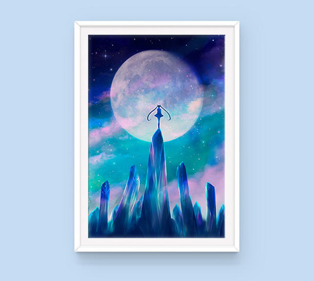 Poster: Moon Crystals - Sugarmints Artstore