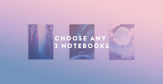 Choose Any 3 Notebooks Set - Sugarmints Artstore