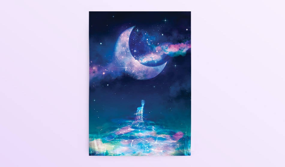 Postcard: Moon River - Sugarmints Artstore