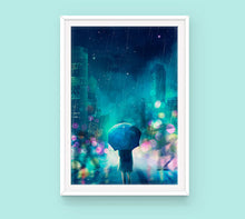 Load image into Gallery viewer, Poster: Rain - Sugarmints Artstore