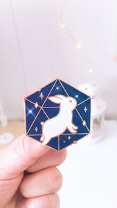 Cosmic Bunny Enamel Pin - Sugarmints Artstore