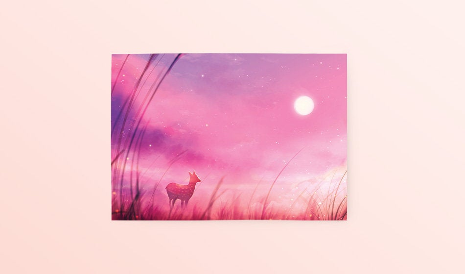 Postcard: Hazy Afternoon - Sugarmints Artstore