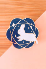 Load image into Gallery viewer, Atomic Rabbit Enamel Pin - Sugarmints Artstore