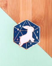 Load image into Gallery viewer, Cosmic Bunny Enamel Pin - Sugarmints Artstore